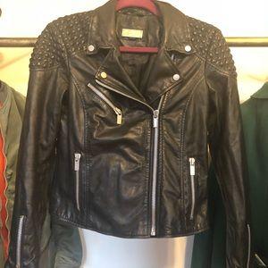 Leather Mango moto jacket